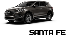 New black hyundai sante fe SUV Vehicle Exterior