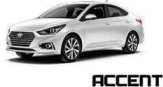 New white hyundai accent Vehicle Exterior