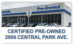 Find Certified Preowned Hondas at 2006 Central Ave., Yonkers, NY.