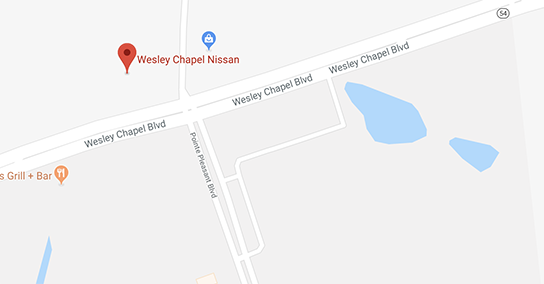 wesley chapel nissan map
