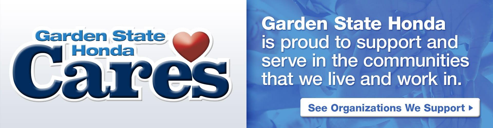 organizations we support - Garden State Honda