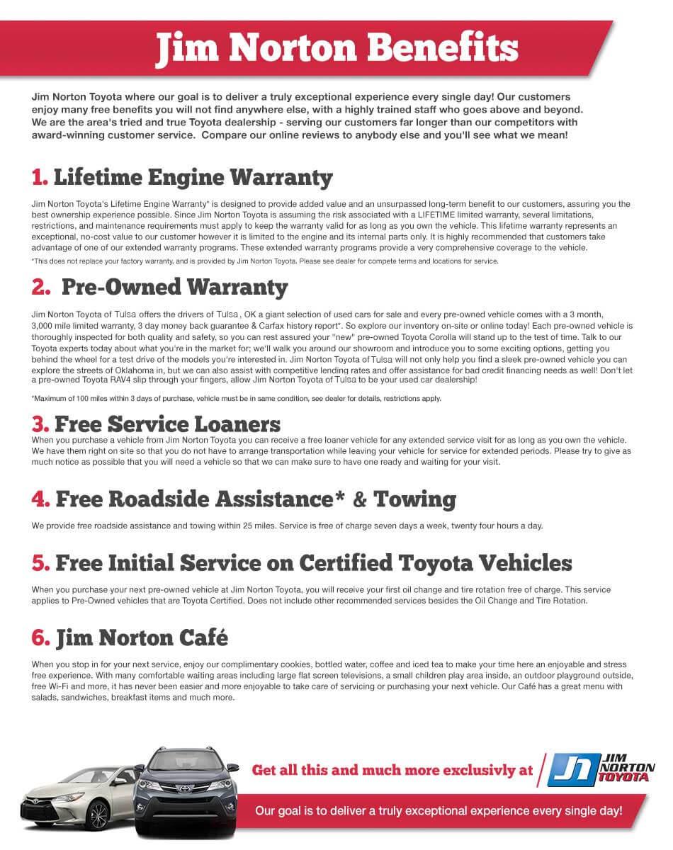 Jim Norton Toyota Benefits