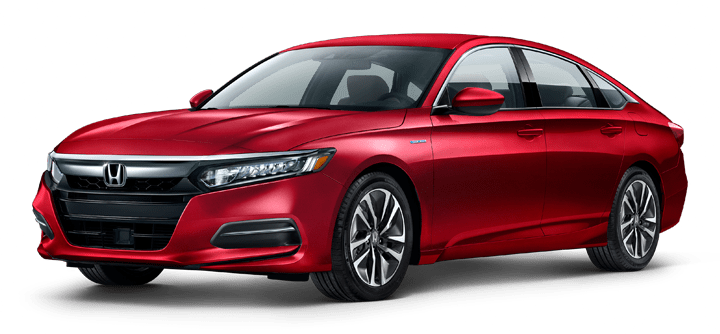 Red Honda Accord Hybrid