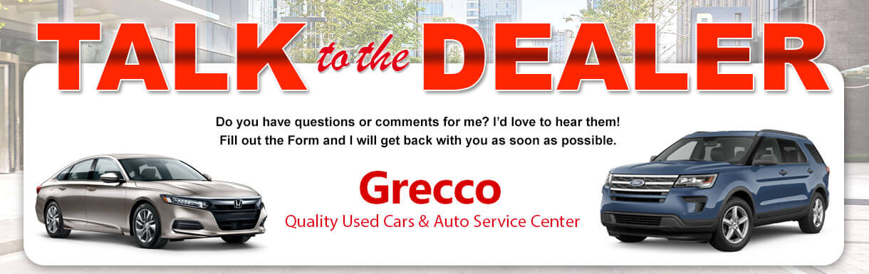 talk to the dealer at Grecco Used Cars