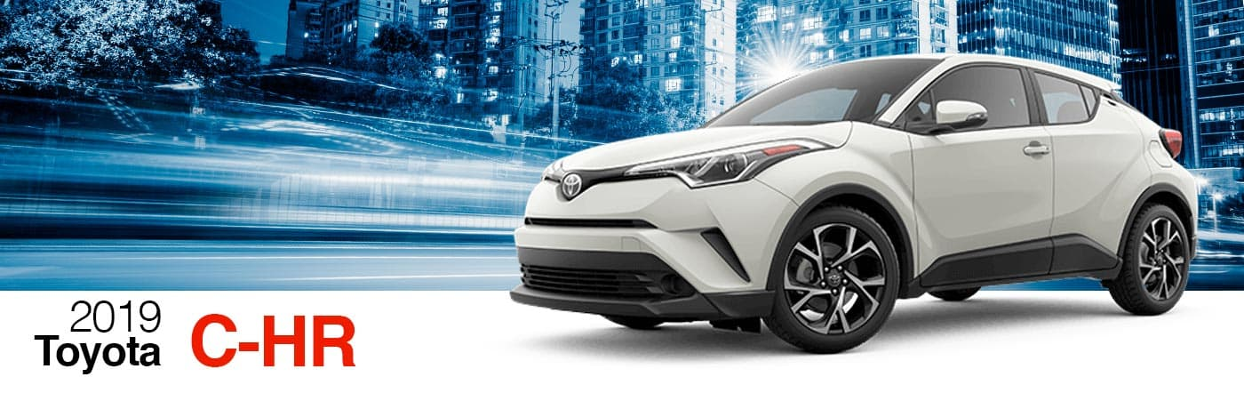 2019 White Exterior C-HR On Road at Stevinson Toyota
