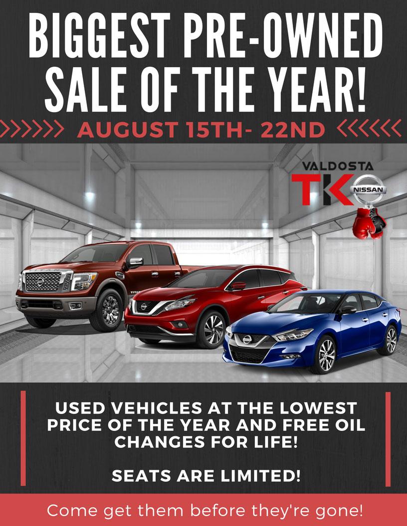 Valdosta Nissan PreOwned Sale