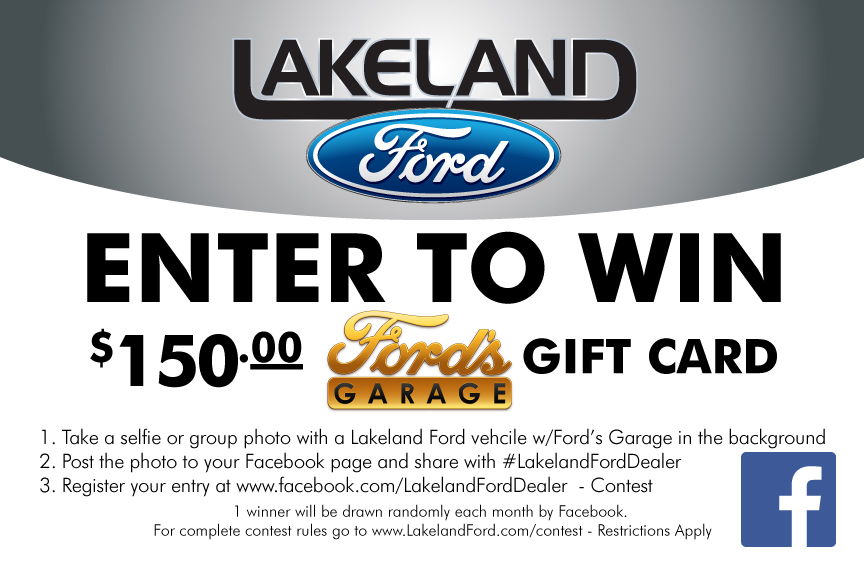 Lakeland Ford & Ford's Garage Facebook Contest