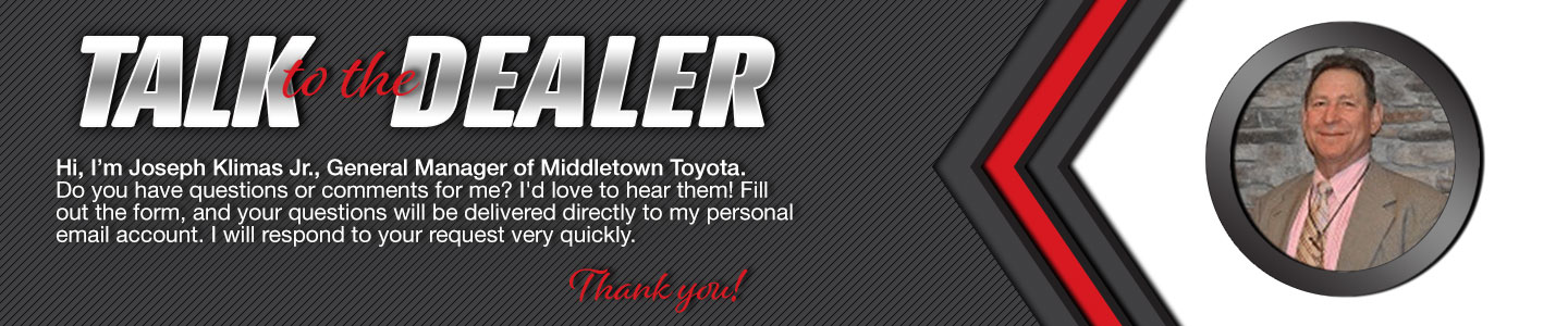 Talk to the General Manager at Middletown Toyota