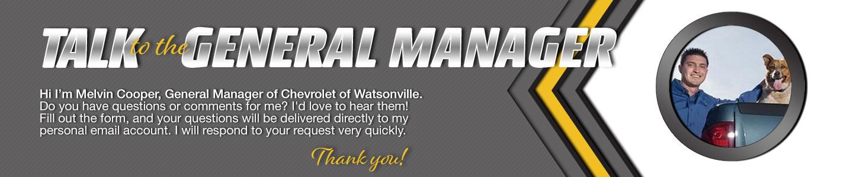 Chevrolet of Watsonville Talk to the Dealer