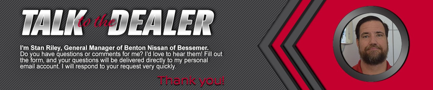 Benton Nissan of Bessemer Talk To The Dealer