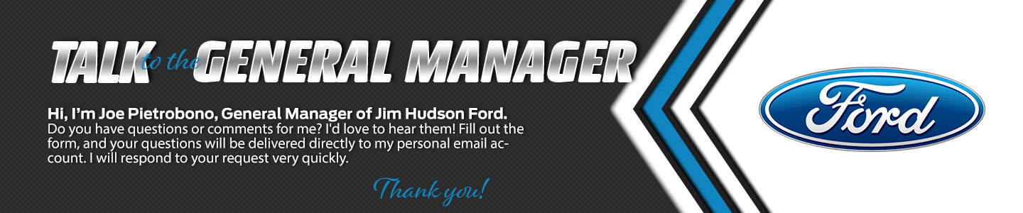 Jim Hudson Ford Talk to the Dealer