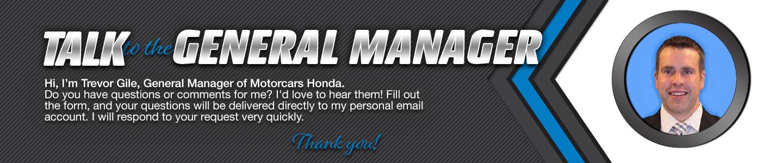 Motorcars Honda Talk to the Dealer