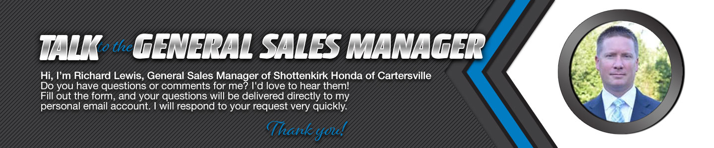 Shottenkirk Honda of Cartersville Talk to the Dealer