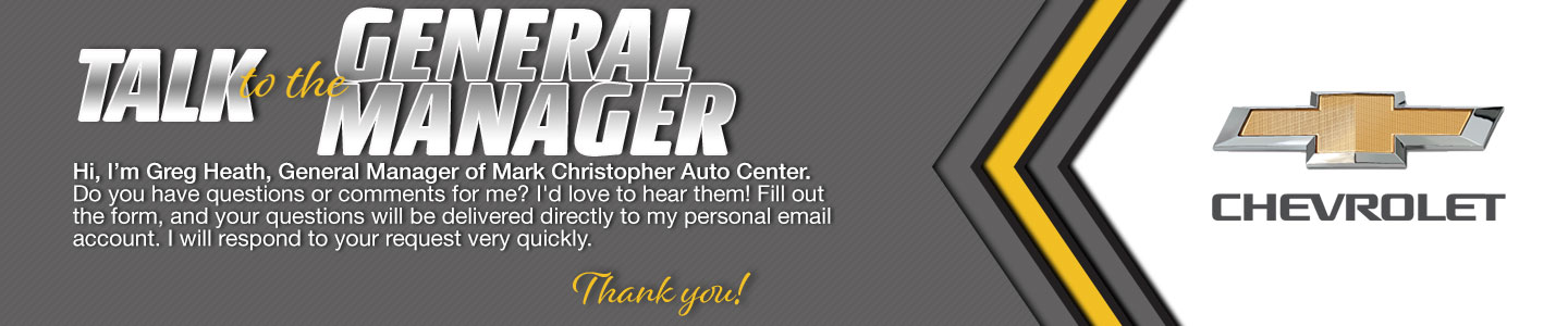 Mark Christopher Auto Center Talk to the Dealer