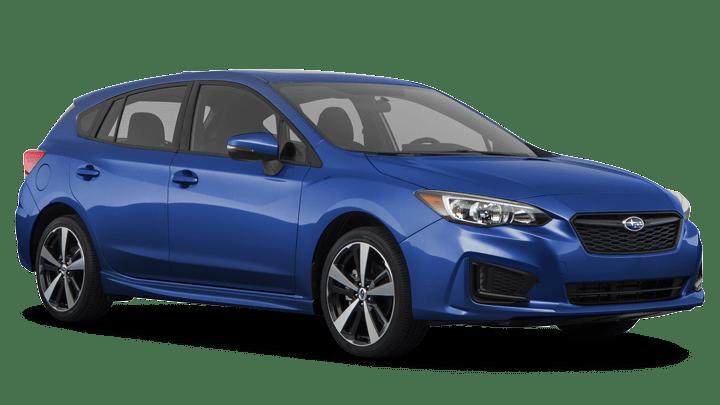 blue Subaru Car facing right