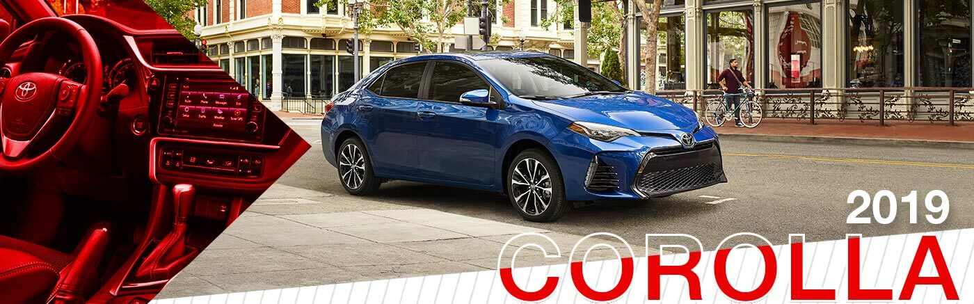 2019 Blue exterior Toyota Corolla at Jerry Durant Toyota
