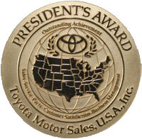 Ventura Toyota has earned the Presidents Award - 17-year recipient