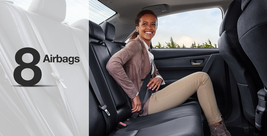 2019 Toyota Corolla has 8 standard airbags