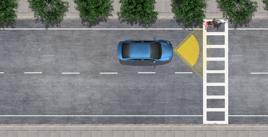 2019 Toyota C-HR Standard Pre-Collision System with Pedestrian Detection