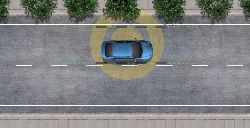 2019 Toyota C-HR Standard Lane Departure Alert with Sterring Assist