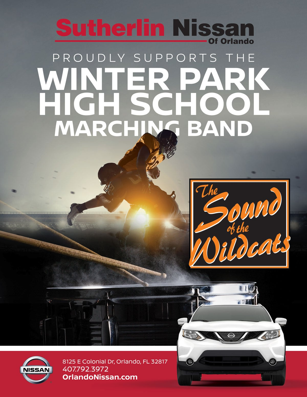 Winter park high school marching band the sound of the wildcats at sutherlin nissan orlando