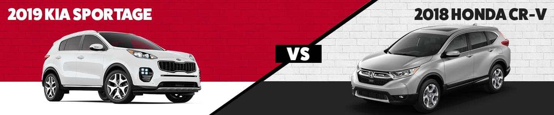 Hudson Kia 2019 Kia Sportage vs 2018 Honda CR-v