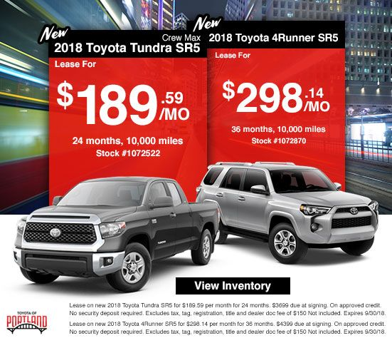 Lease at Toyota of Portland