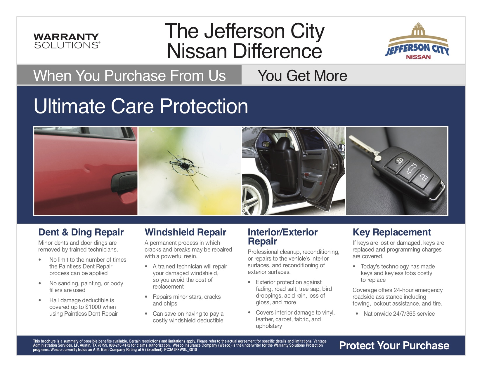 A table of the Nissan of Jefferson City Advantage Program