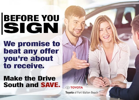 Toyota of Fort Walton Beach will beat any offer