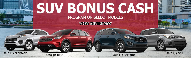SUV Bonus Cash Program On Select Models