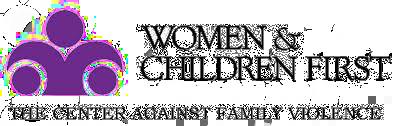 women and children first logo
