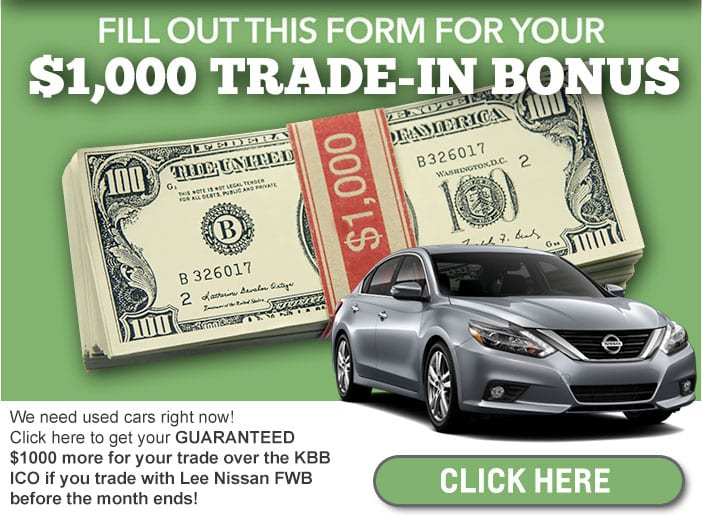Lee Nissan Trade In KBB Offer