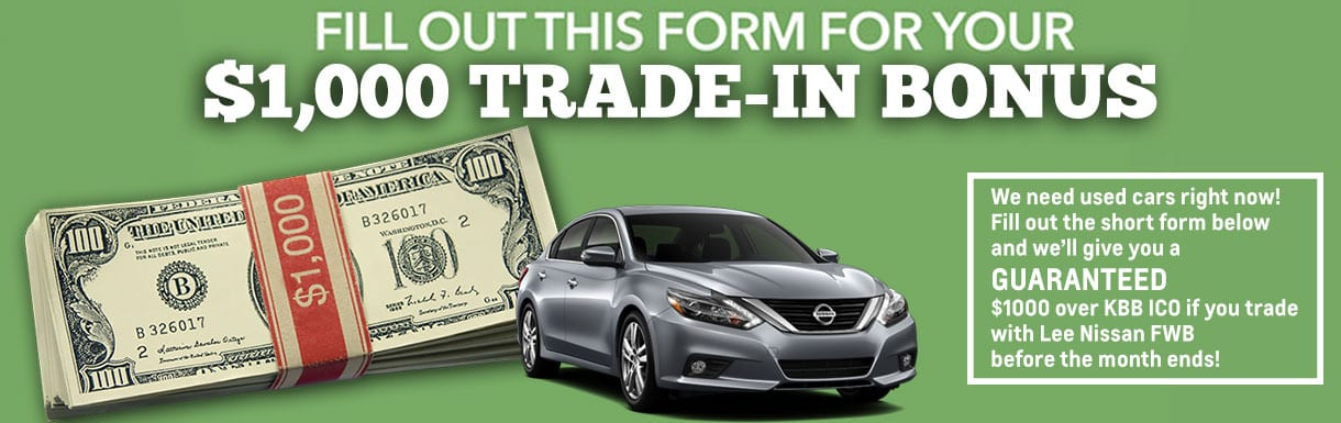 Kelley Blue Book Instant Cash Offer Lee Nissan