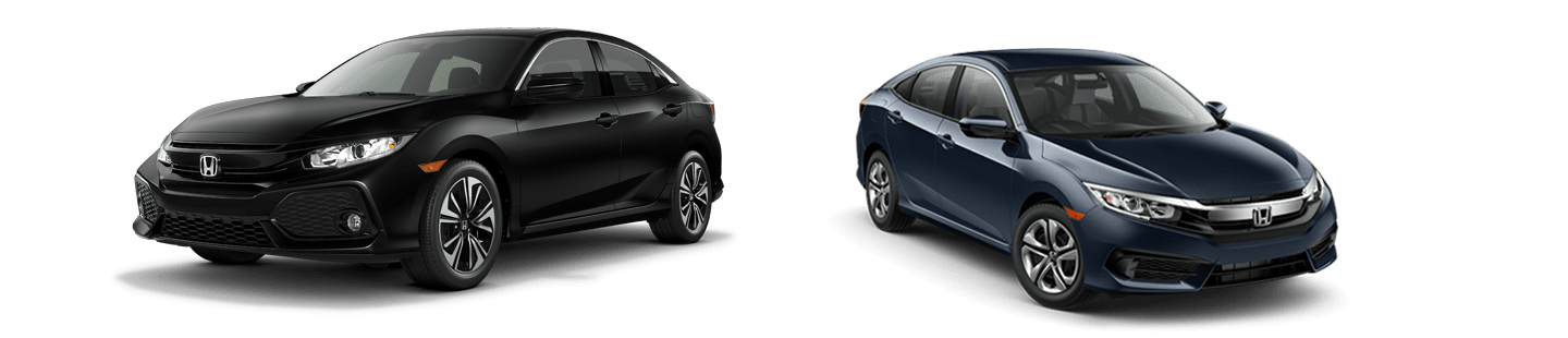2018 Honda Civic Hatchback. VS.