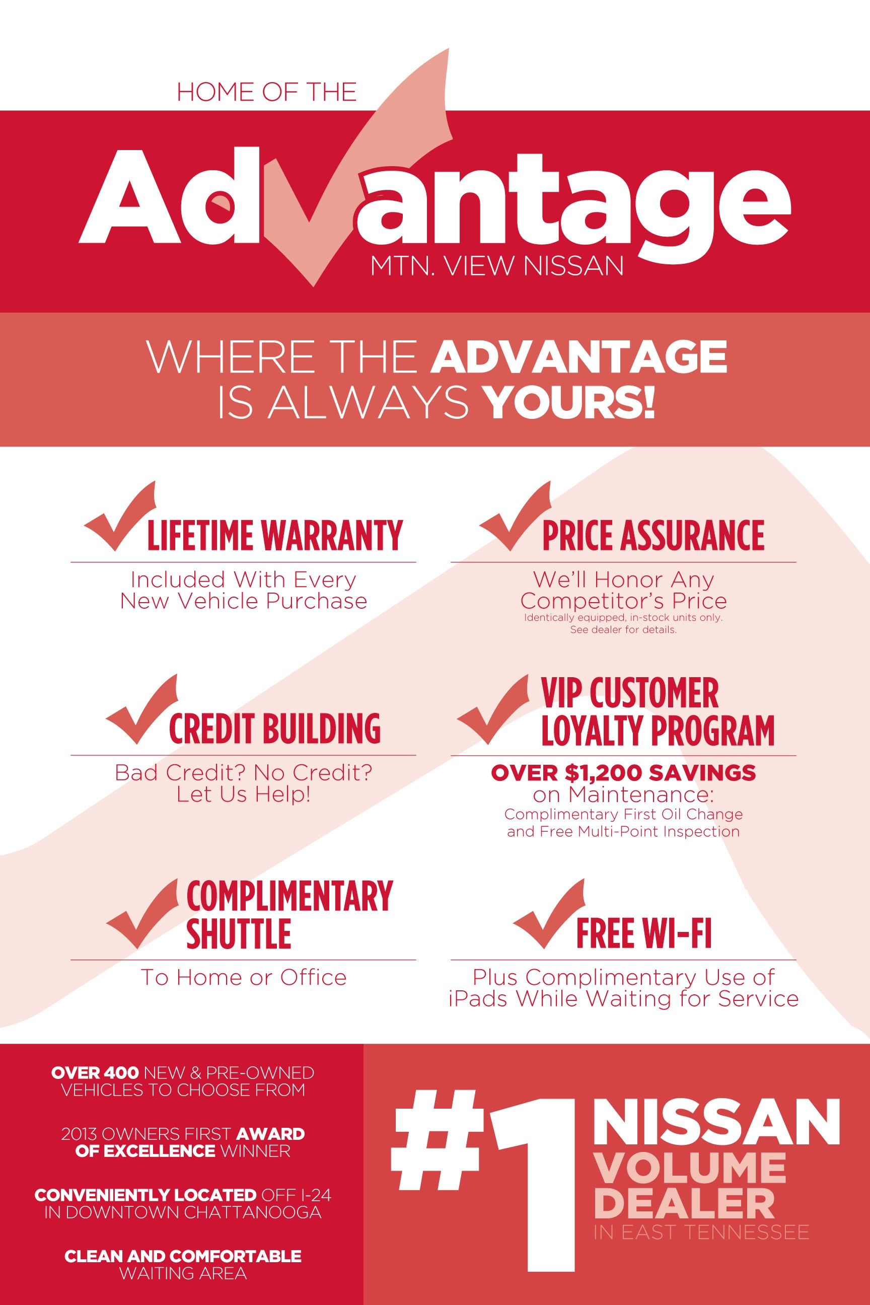 the mtn. view advantage | nissan dealership in chattanooga