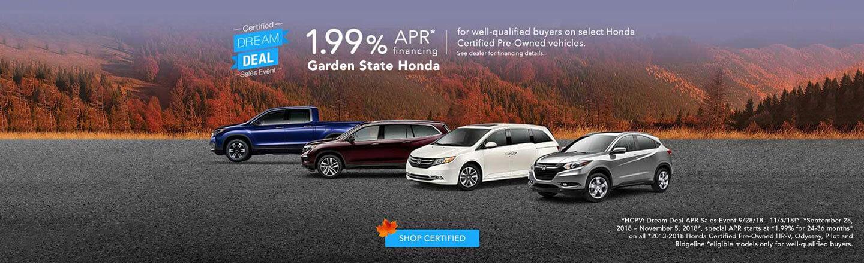 certified dream deal sales event - Garden State Honda