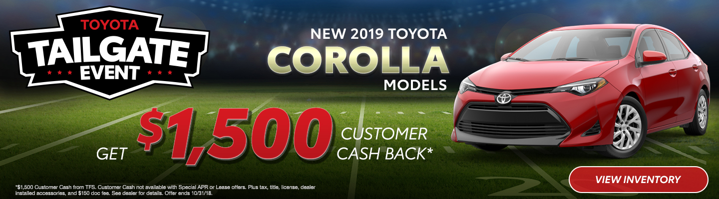 Nice New 2019 Toyota Corolla Models Fort Worth TX