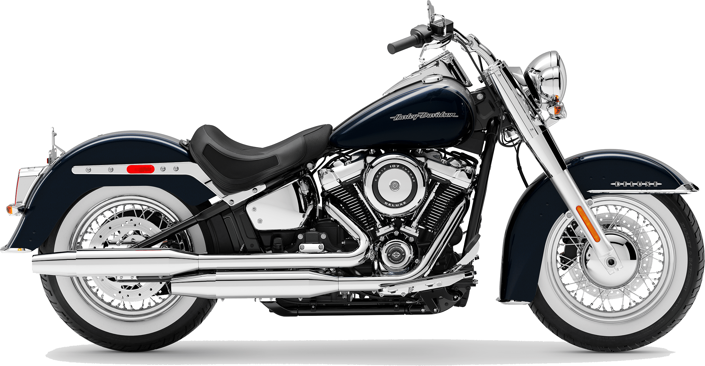 2019 Harley-Davidson Softail Deluxe Midnight Blue / Barracuda Silver