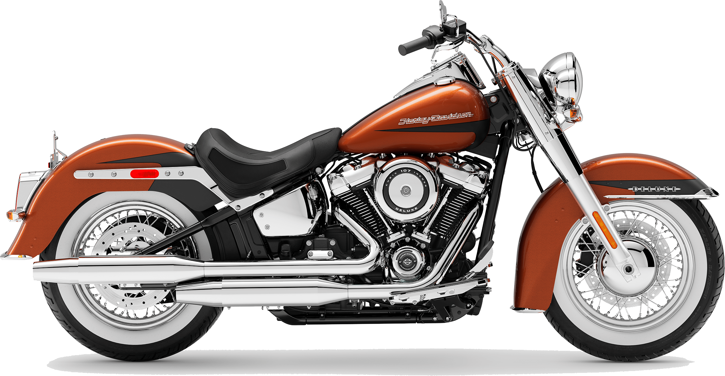 2019 Harley-Davidson Softail Deluxe Scorched Orange / Black Denim
