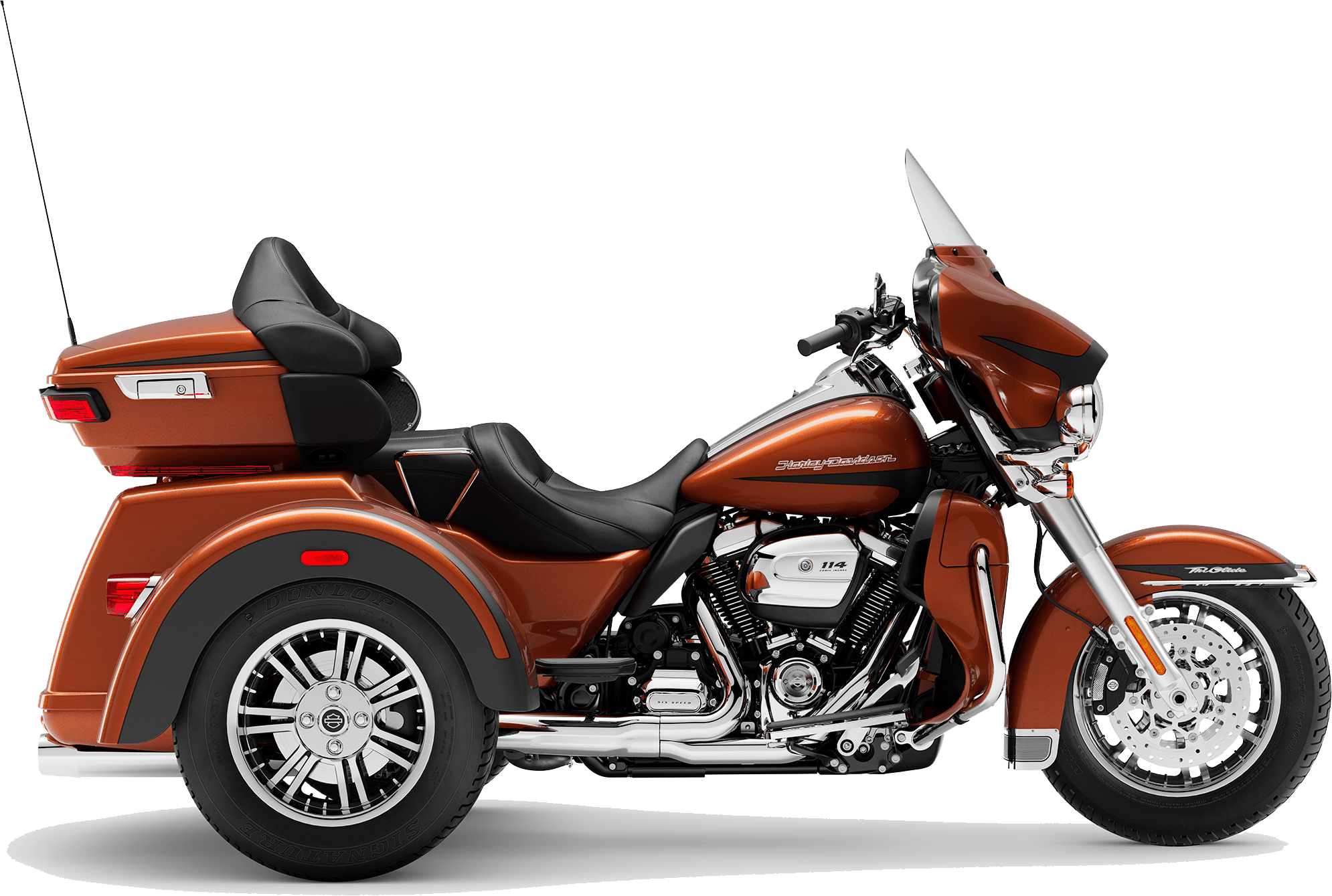2019 Harley-Davidson Tri-Glide Ultra Scorched Orange Black Denim
