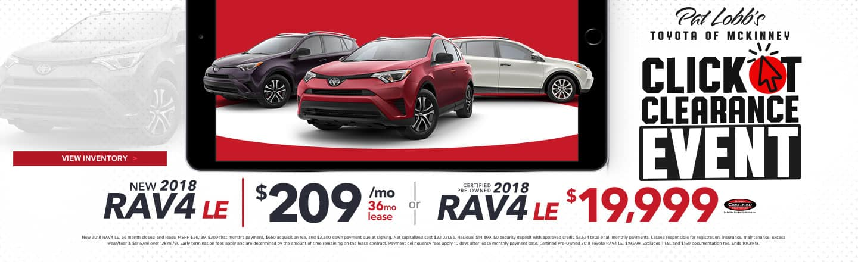 Nice New 2018 Rav4 LE Specials | Pat Lobbu0027s Toyota Of McKinney