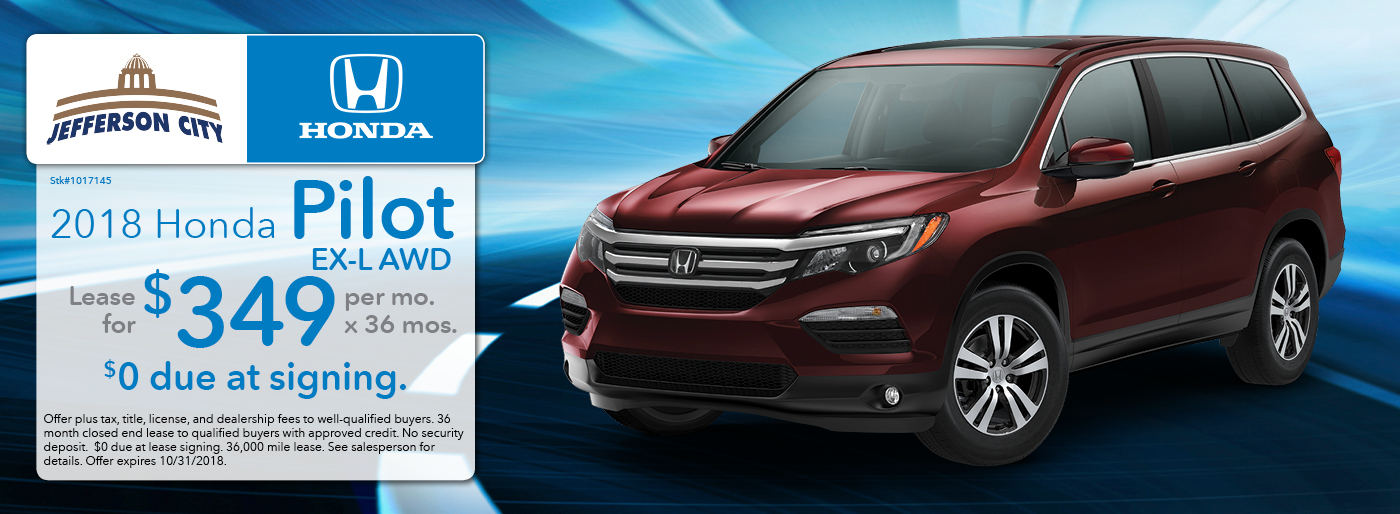 2018 Honda Pilot Lease Deal