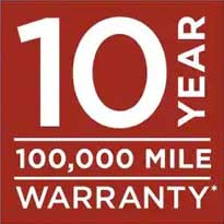 10 year 100000 mile warranty