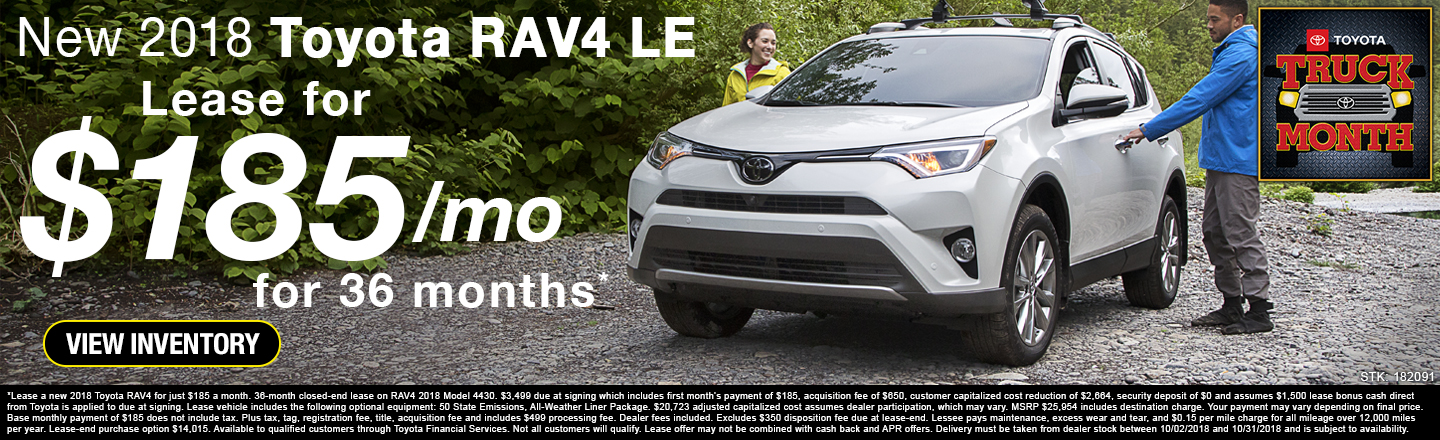 Elegant Lease A New 2018 Toyota RAV4 LE For Only $185 A Month In Johnson City TN