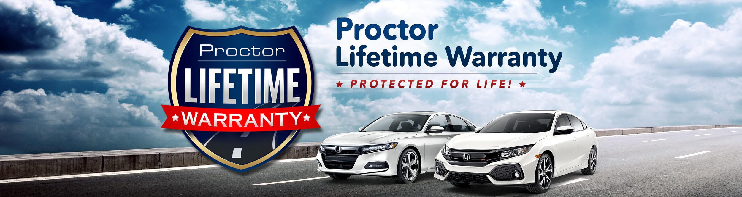 Proctor Lifetime Warranty