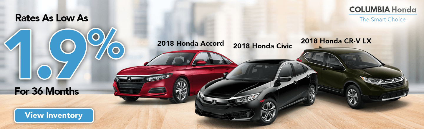 Low Rates For Accord, Civic, And CR V