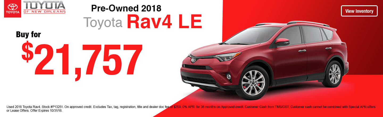 High Quality 2018 Toyota Rav4 LE