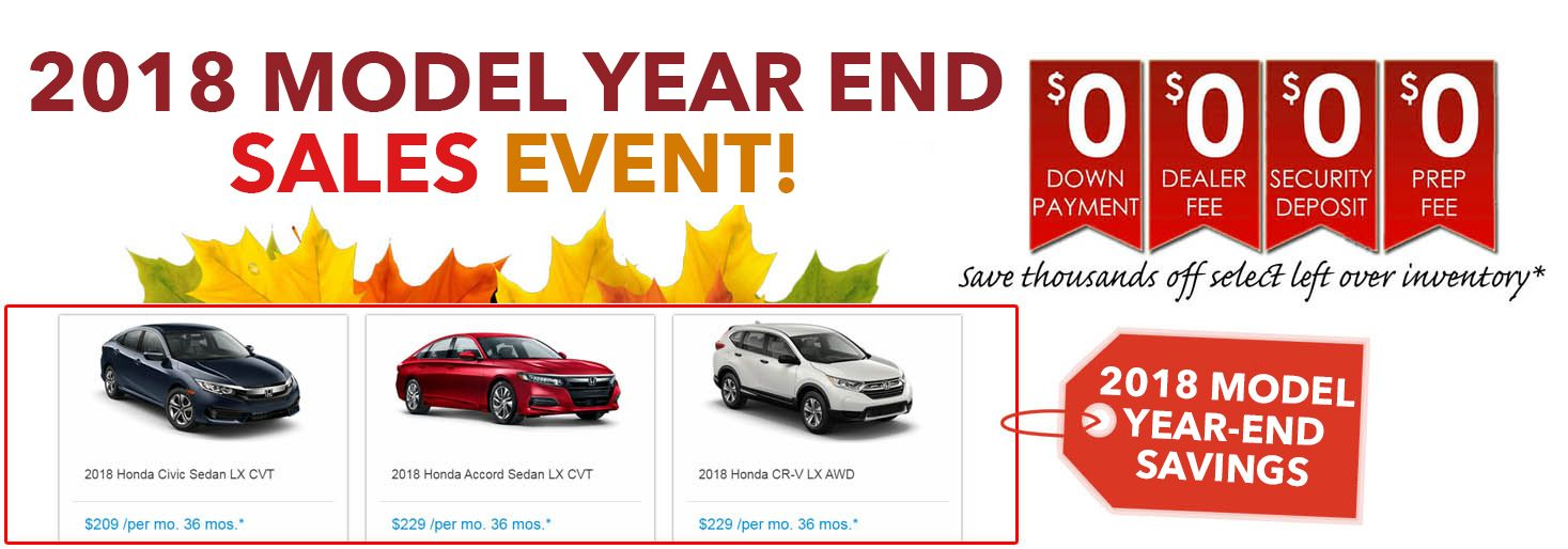 Yonkers Honda Dealership Year End Model Clearance Event