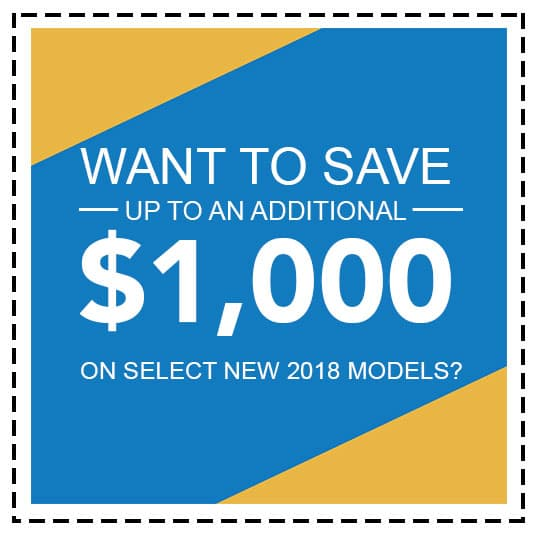 Save $1,000 On Select Models