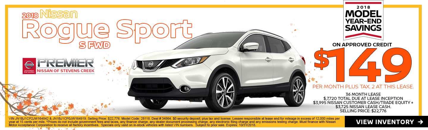 High Quality 2018 Nissan Rogue Sport S At Premier Nissan Of Stevens Creek